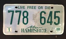 NEW HAMPSHIRE USED CAR REGISTRATION NUMBER PLATE cafe pub brew garage retro