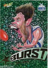 2017 Select Footy Stars Starburst Caricature (SB46) Sam GIBSON North Melbourne