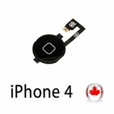 Home Menu Button with Flex Cable Assembly for Apple iPhone 4G Black New