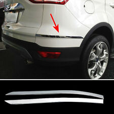 FIT FOR 13- FORD ESCAPE KUGA CHROME REAR TRUNK BUMPER PROTECTOR TRIM COVER STRIP