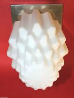 große BAUHAUS SKYSCRAPER DECKENLEUCHTE  Designleuchte Opalglas quadrat. Sockel