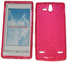 Pattern Soft Gel Case Protector Cover For Sony Ericsson Xperia U ST25i Pink UK