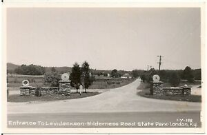 Entrance to Levi Jackson Wilderness Road State Park in London KY RP Postcard