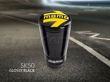 MOMO SK50 Black Aluminum Gear Shift Shifter Knob w/ Logo - Part # SKFBLK - NEW