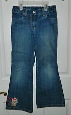 GYMBOREE girls NEW YORK GIRL Blue Denim PUPPY DOG Jeans* 7