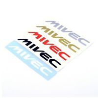 Mitsubishi MIVEC STICKERS Decal Vinyl 150mm x2 Car Wing Panel Spoiler Ralliart