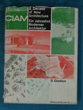 A Decade of New Architecture Giedion Editions Girsberger Zurich 1951 As Is