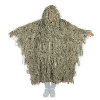 3D Bow Hunting Grass Ghillie Poncho Sniper Desert Camouflage Cloak For Training
