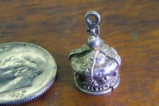 Vintage silver CROWN KING QUEEN ENGLAND ENGLISH VICTORIAN ROYAL charm