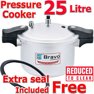 Pressure Cooker Stainless Kitchen Catering Home Cookware  PLUS EXTRA GASKET