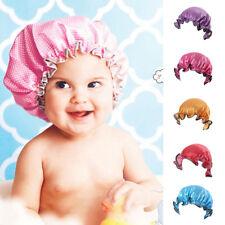 EE_ UK_ Baby Kids Waterproof Elastic Shower Bathing Bath Salon Hair Head Cap Hat