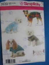 Simplicity Sewing Pattern 3939 Dog Coats Sweatshirt Small Medium Large