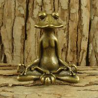 Solid Brass Frog Figurine Statue Decoration Ornament Animals Figurines