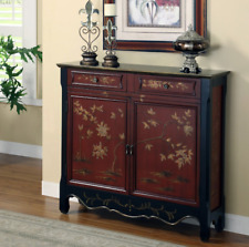Buffet Cabinet Chinese Accent Hall Oriental Style Asian Storage Console New