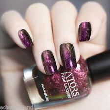 16ml Holographic Polish Chameleon Nail Art Manicure Varnish Shiny Red