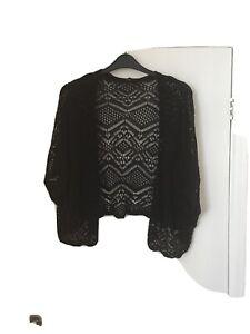 Black Crochet Shrug Size 22
