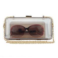 Transparent Evening Bag Clutch Party Shoulder Handbag Women Wallet Acrylic Box