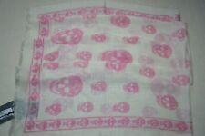 ALEXANDER McQUEEN Womens Pink Skull Scarf Brand New RRP £265
