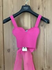 Zara Crop Top With Organza Bow. Size S. Brand New With Tags