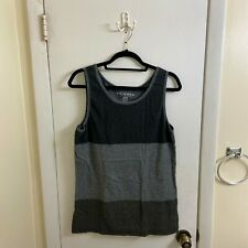 Men's Arizona Striped Tank Top - Medium - Black and Gray