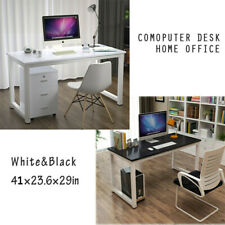 Wooden Computer Table Study Desk PC Laptop Workstation Home Office Black/White