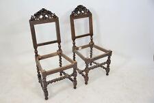 Coppia di sedie in faggio con cimasa intagliata,fine 1800.