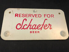 Old Vtg Collectible Reserved For Schaefer Beer Metal Wall Sticker Adhesive Tin