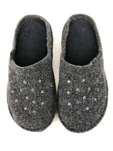 Crocs Classic Lined Slippers Gray Womens Socks Liners Size 8 Mens Size 10