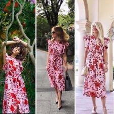 Zara Floral Print Linen Tunic Dress Size X LARGE BNWT