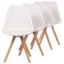 Design Stuhl Retro Stuhl Esszimmerstuhl Sitzgruppe Bürostuhl 4 Set Büro Makika