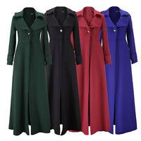 Vintage Ladies Floor Winter Dress Ankle Full Length Coat