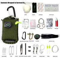 29 in 1 Outdoor Paracord Grenade Survival Kit Emergency EDC Gear Camping Fishing