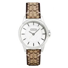 Brand New Coach Women 31mm Case Classic Signature Brown Strap Watch 14501525