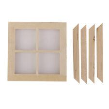 4 Pane Window Frame Dolls House Miniature DIY Fixture & Fittings 1.12 Scale