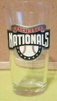 Washington Nationals Baseball Metal Logo Drinking Glass Great American MLB EUC