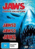 Jaws 2 + Jaws 3  + Jaws 4 (DVD SET) 3 Great Shark Movies ! REGION 4 AU