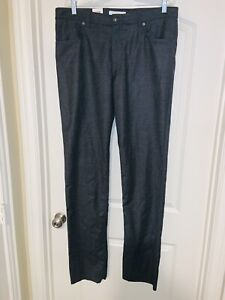 NWT Brax Cooper Wool Flannel Checkered 5 Pocket Pants Sz 38X36 Unfinished