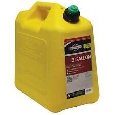 Briggs Amp Stratton 5 Gallon Poly Yellow Diesel Fuel Can Container W Spout