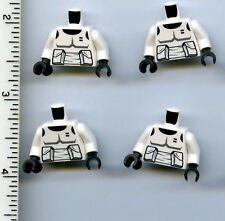 Star Wars LEGO x 4 White Torso SW Armor Scout Trooper Pattern Endor Imperial