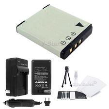 D-LI68 Battery + Charger + BONUS for Pentax Optio S10 S12 A36 A40 Q Q10 VS20