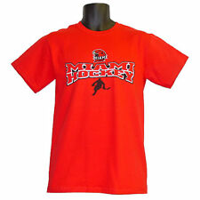 Miami University RedHawks Hockey Step Ahead Double-Arch Red T-Shirt - Medium