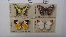 Scott #1715A Butterflies. Block of 4. Mnh