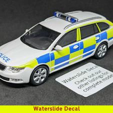 1/43 Generic UK Police Emergency Service Decal for Abrex Skoda Superb 2nd Gen
