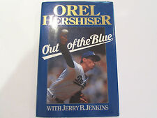 Out Of The Blue, by Orel Hershiser - 1989 - Signed, 1st Ed. Hardcover Book