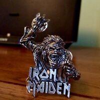 Vintage Iron Maiden Hooks Pin Badge, Bruce Dickinson, Heavy Metal Alchemy, Poker