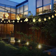 Cordão de luzes Ao Ar Livre Pátio Jardim Quintal Festa Casamento 30 lâmpadas de led alimentado por energia solar