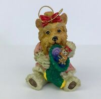 Yorkshire Terrier Dog Christmas Ornament Resin Holiday Tree Decoration 3in