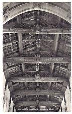 Martock ALL SAINTS CHURCH ROOF OLD GEORGE HALL CREECH ST MICHAEL PHOTO POSTCARD