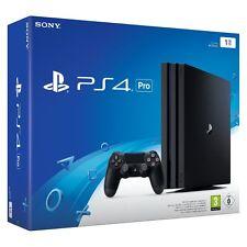 Sony PlayStation 4 Pro - 1TB Jet Schwarz Spielekonsole NEU & OVP