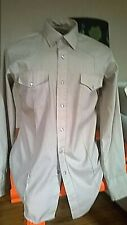 "Vtg 80's ""Gold Collection by Karman"" Khaki Tan Western Style Long Sleeve Shirt"